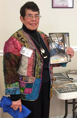 """In celebration of Women's History month in March, the DWC's Linda Linzey gave a presentation to the DWC on the significant contributions made by women throughout history.  Linzey's discussion focused on the 2019 National Women's History Alliance theme, """"Visionary Women, Champions of Peace and Non-Violence."""""""