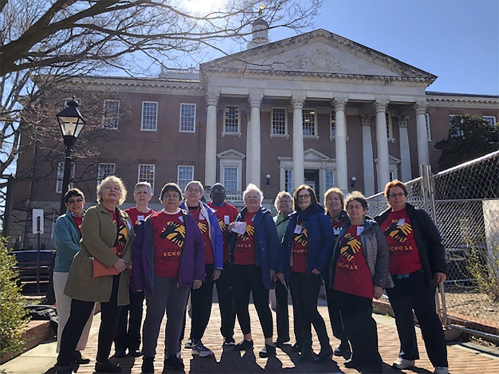 """In March, members of the DWC Political Action Committee joined the non-profit, STRONG SCHOOLS MD, in Annapolis to meet with Maryland's legislators and encourage them to support the Kirwan Commission school reform legislation (SB1030 & HB1413).  Meetings were held with State Delegate, Wayne Hartman, and the staff of State Senator, Mary Beth Carozza, to urge """"full funding of Kirwan."""""""