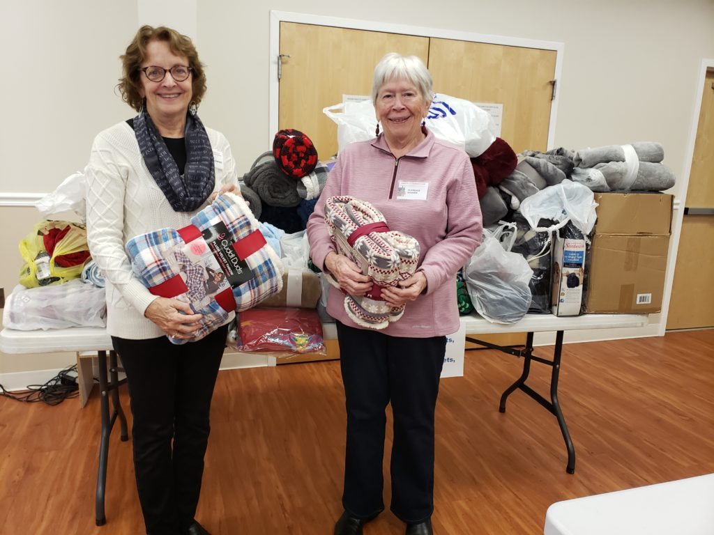 Gail Jankowski and Flo Krasden Collecting for Coastal Hospice and Worcester County Committee on Aging November 18, 2019